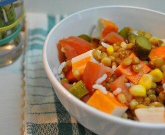 Recetas de ensalada de lentejas fria mytaste for Cocinar lentejas de bote