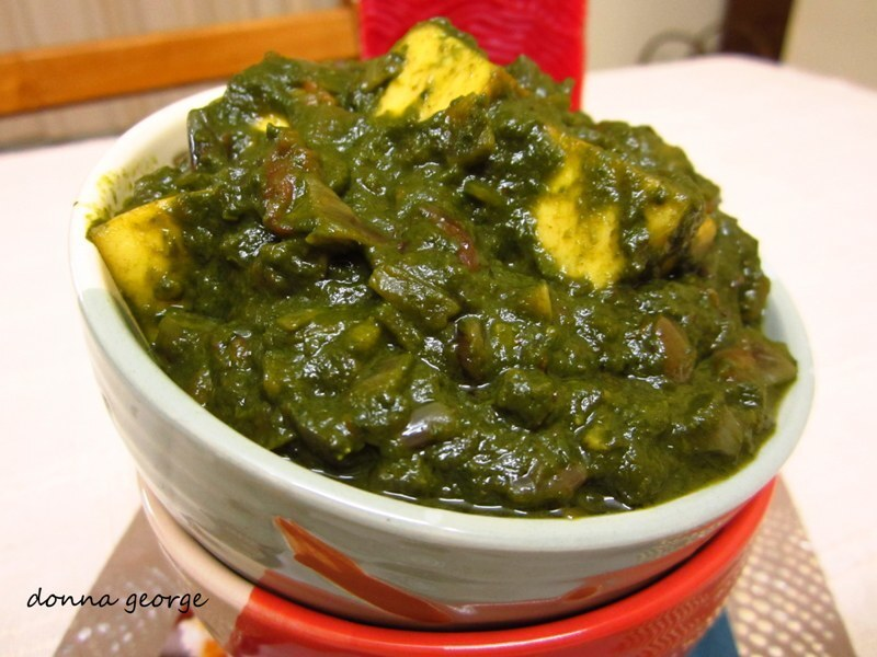 Palak/Saag Paneer - Curried Spinach with Indian Cottage Cheese