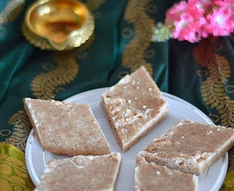 Badam Burfi recipe- Badam kathli-  How to make almond fudge-  Easy diwali sweet recipes