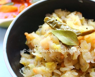 Muttaikose Poriyal / Cabbage Poriyal
