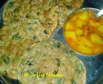 Methi Puri | Poori with Fenugreek Leaves Recipe