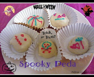 Spooky Peda/ Milk Peda/ Doodh Peda – Quick microwave recipe (Spooky Milk Fudge) – Halloween recipe