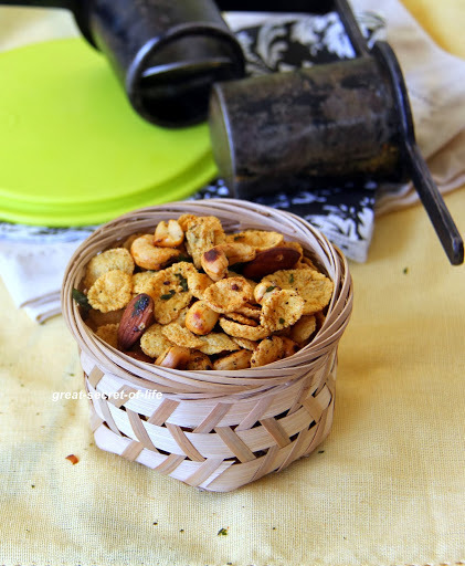 low calorie baked Cornflakes Mixture - Simple Deepavali / Diwali snack