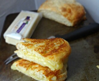 Garlic Herb Ciabatta Grilled Cheese-Great Midwest Flavored Cheeses Review, Recipe Contest, and GIVEAWAY!(Closed)