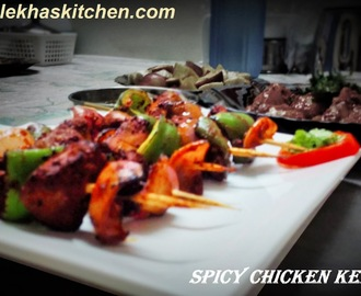 Recipe of spicy chicken kebabs without grill