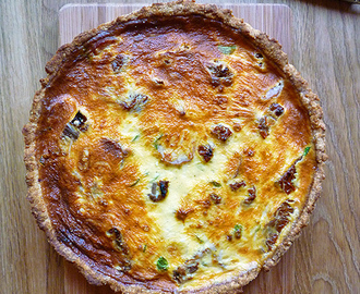 * Smoked Sausage, Tomato and Watercress Tart