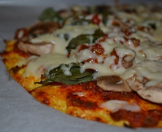 Pizza con masa de coliflor / Cauliflower pizza dough