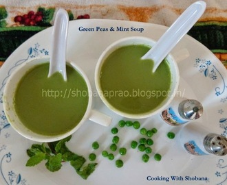 GREEN PEAS & MINT SOUP ( HEALTHY HEART)