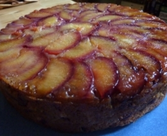 Riverford Plum Upside Down Cake
