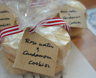 Christmas Hamper Goodies: Rose Water & Cardamom Cookies