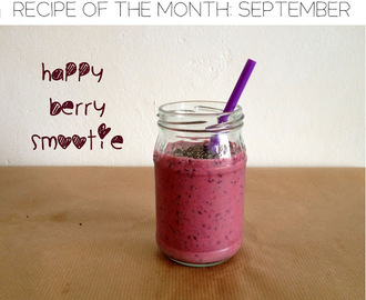 Recept van de maand september: happy berry smoothie