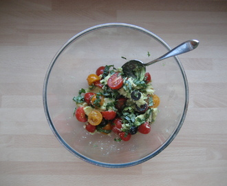 Herb Avocado and Tomato Salad