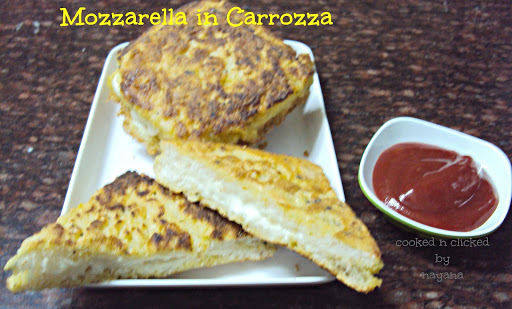 Mozzarella in Carrozza ( For International Food Challenge )