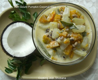 ASH GOURD PUMPKIN COCONUT STEW (KERALA OLAN CURRY)