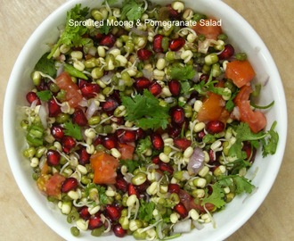 POMEGRANATE & SPROUTED MOONG SALAD