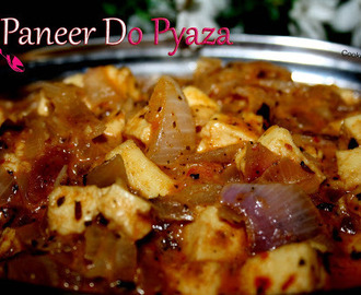 Paneer Do Pyaza-Restaurant style