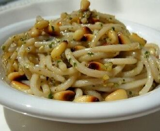 Gluten-Free Pesto Pasta with Toasted Pine Nuts Recipe