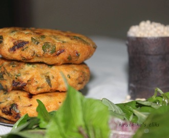 Keerai Vadai using Urad Dhal / Spinach Vada