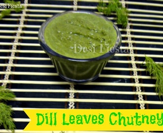Dill leaves Chutney