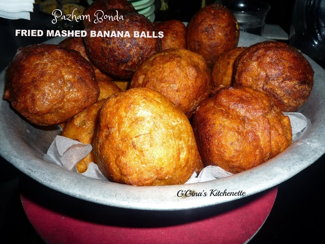 Pazham Bonda - Fried Mashed Banana balls