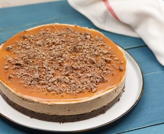 No-bake! Tony's Chocolonely karamel-zeezout cheesecake