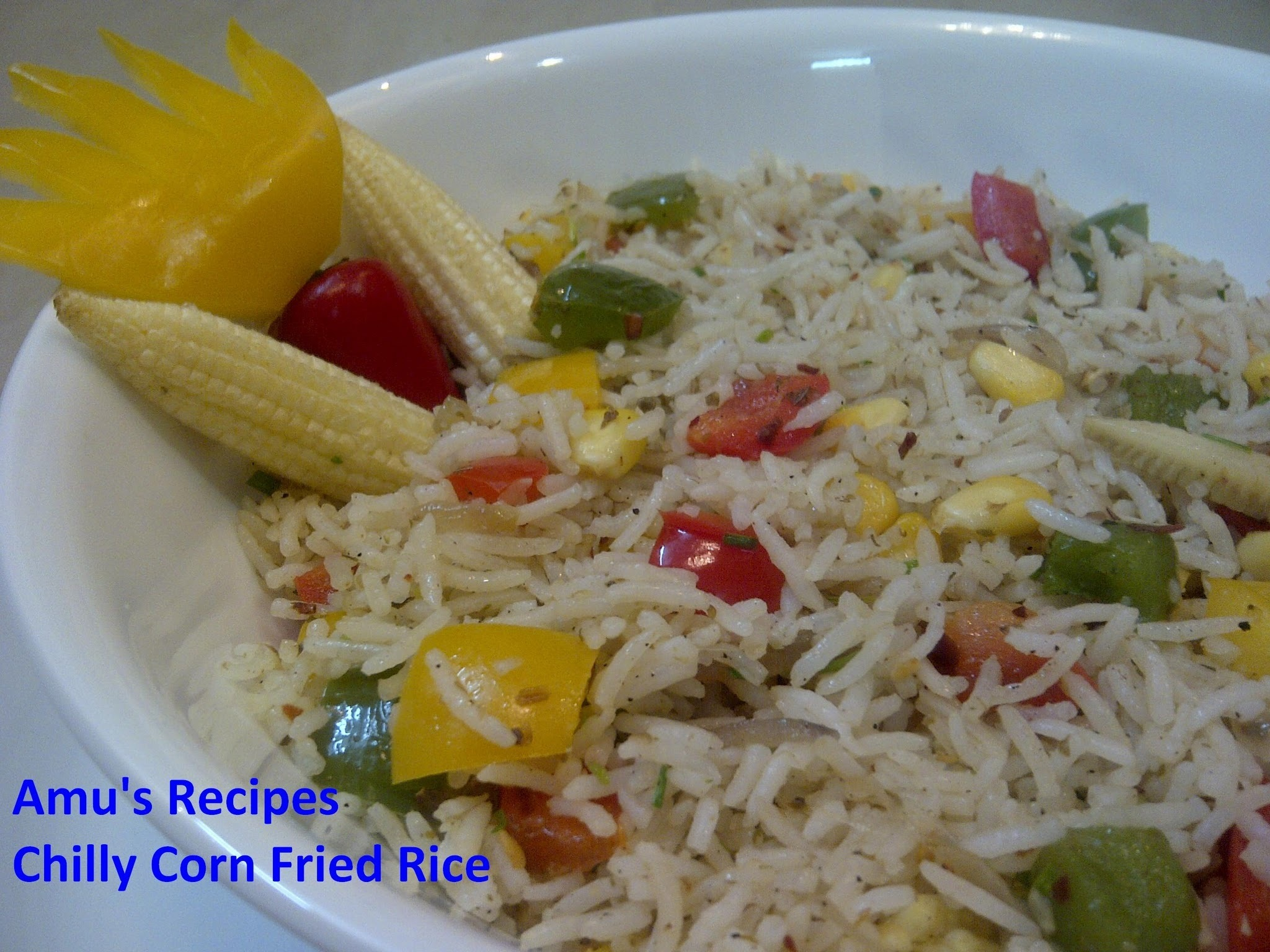 Chilly Corn Fried Rice