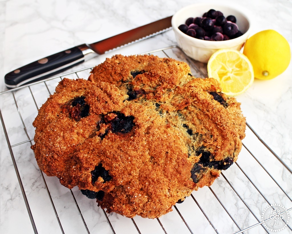 Blueberry & Lemon Soda Bread – a quick & delicious teatime treat!