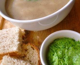 a case of culinary serendipity: jerusalem artichoke and creamed spinach soup