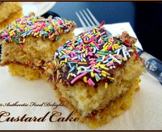 CUSTARD CAKE: GUEST POST BY SUSHMA MALLYA