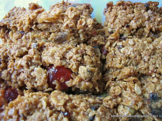 Chewy ginger and cherry flapjacks - recipe