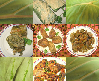 Patra - Curried Taro Leaves