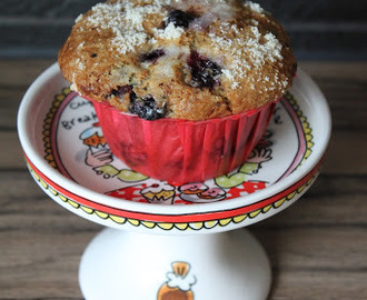 Bosbessen en Chocolate Chip Muffins