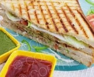 Vegetable Cheese Grilled Sandwich