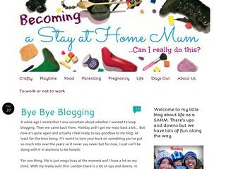 Becoming a stay at home mum