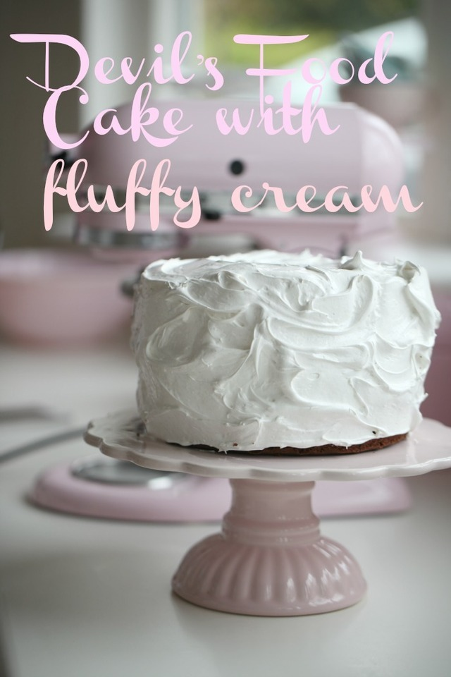 Devil's Food Cake with Fluffy Cream