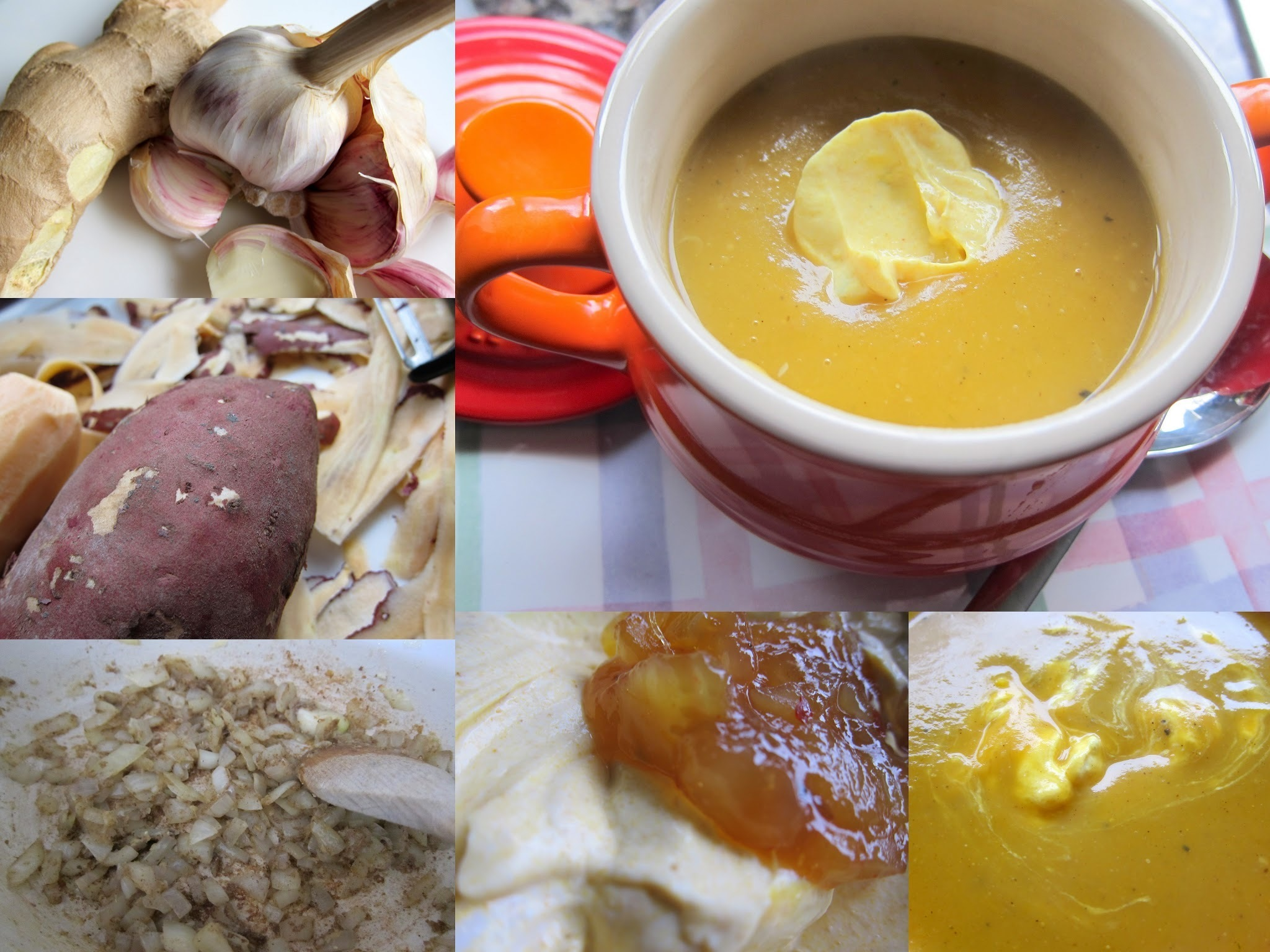 Curried sweet potato and ginger soup - recipe/book review
