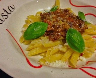 pasta : penne all ' Amatriciana