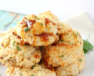 Maple Bacon & Cheddar Buttermilk Biscuits