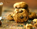 Peanut Butter Dark Chocolate Chip Cookies - 4 Ingredient Fix - Easy N Fast