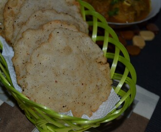 Neypathal/ Neypathiri/ Deep Fried Rice Puris