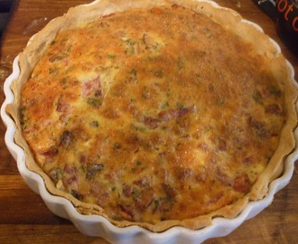 Not a tart - A Jamie inspired cheese and bacon quiche