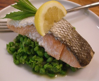 Easy Peasy - Salmon with minted peas