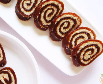 Easy Vegan Date Roll Recipe | Sugar- free and Gluten-free Dessert Recipe