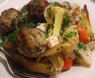 Gorgeously Greek and very tasty! Greek Lamb Tray Bake