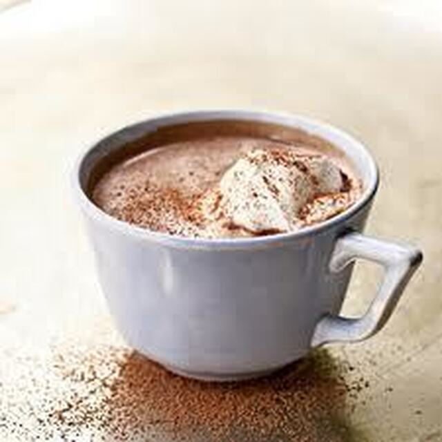 hot chocolate with whipped cream recipe