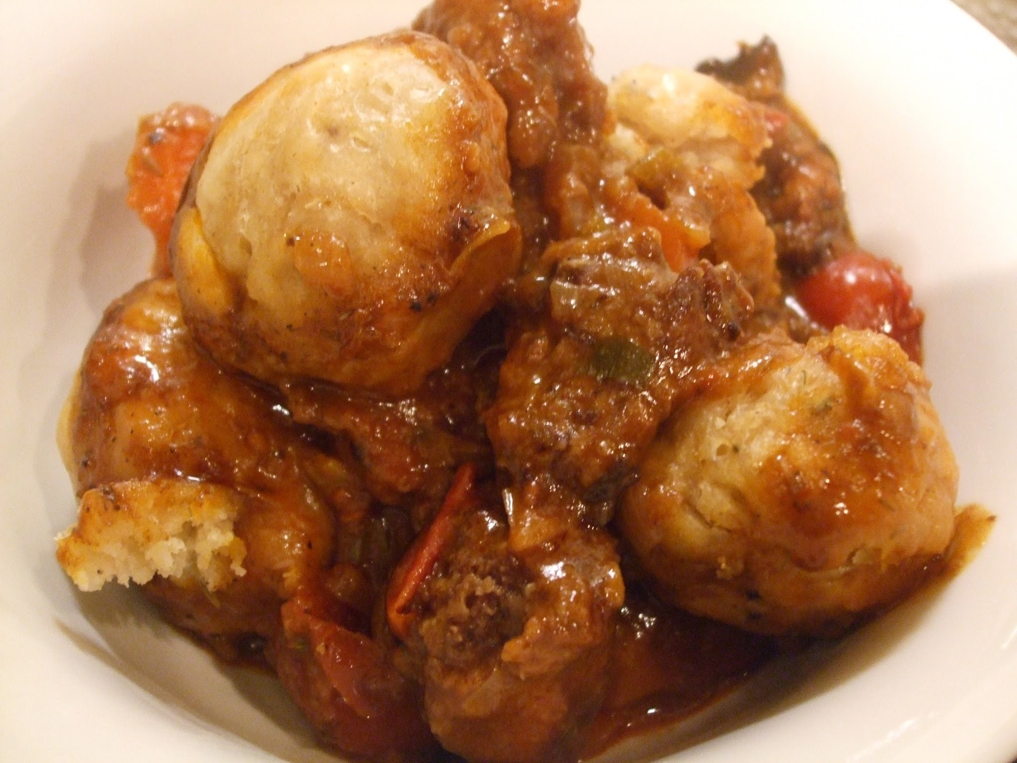 Still a bit cold; more comfort food required! Beef stew with thyme and mustard dumplings