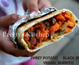 Sweet Potato & Black Bean Vegan  Burrito / Thanksgiving Breakfast Recipe ( Step By Step Pictures)