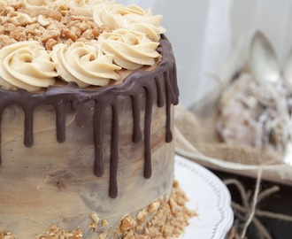 PEANUT CHOCOLATE LAYER CAKE