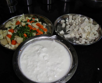 Mixed vegetables saag
