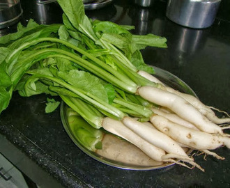 Baby radish [ mullangi ] with leaves subji